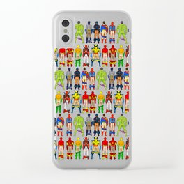 Superhero Butts Clear iPhone Case