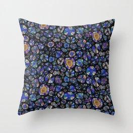 Barca Dots Pattern blue/purple/black Throw Pillow