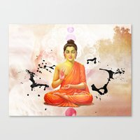 buddha Canvas Prints featuring Buddha by O. Be