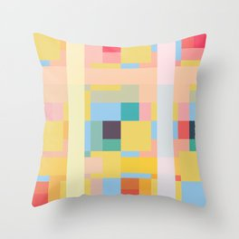 Unktehila - Abstract Colorful Pixel Pattern Throw Pillow