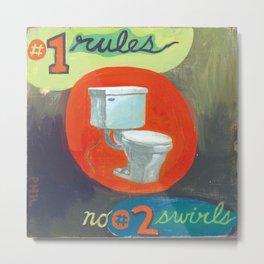 #1 rules - by phil art guy Metal Print