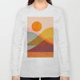 Abstraction_SUNSET_LANDSCAPE_POP_ART_Minimalism_018X Long Sleeve T-shirt
