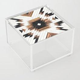 Urban Tribal Pattern No.5 - Aztec - Concrete and Wood Acrylic Box