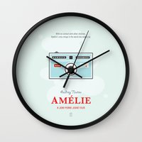 amelie Wall Clocks featuring Amelie by Smile In The Mind