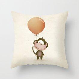 Monkey Print Throw Pillow
