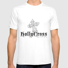 HollyCross Sketch MEDIUM White Mens Fitted Tee