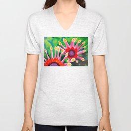Flowerburst Unisex V-Neck