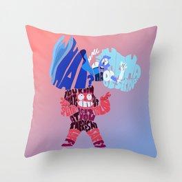 Laffy Saffy Throw Pillow