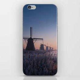 Sunrise at Kinderdijk II iPhone Skin