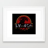 lv Framed Art Prints featuring LV-426 by Crumblin' Cookie
