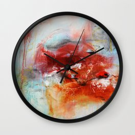 Abstract Digital Art from Original Painting Wall Clock
