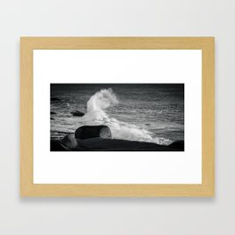 The Wave Comes Tumbling Down Framed Art Print