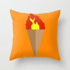 First-Gen Flambé Throw Pillow