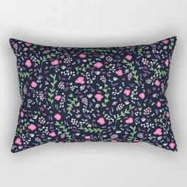 Blossoming flowers in an Italian garden Rectangular Pillow