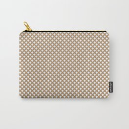 Iced Coffee and White Polka Dots Carry-All Pouch