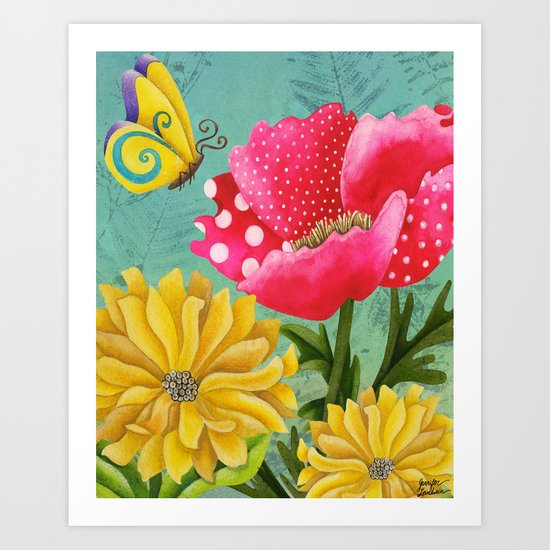Wondrous Garden Art Print