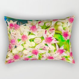 Tiny pink flowers Rectangular Pillow