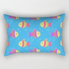 Swimming Fish Cartoon Pattern Rectangular Pillow