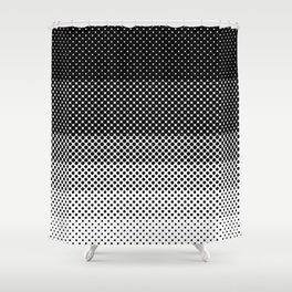 A lot of dots, like a lot. Then less dots. Lesser and lesser and lesser, untili no dblack dots anymo Shower Curtain