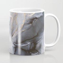 Calm but Dramatic Light Monochromatic Black & Grey Abstract Coffee Mug