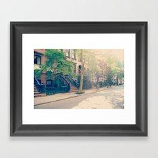 West Village Perry Street New York City Framed Art Print