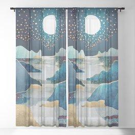 Moon Glow Sheer Curtain