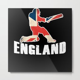 England Cricket Shirt Cricket Team Metal Print