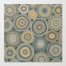 Boho Patchwork-Mineral Colors Canvas Print