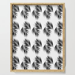 Palm Leaves Pattern #12 #Black #White #decor #art #society6 Serving Tray