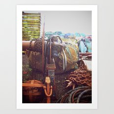 Rusted, Dirtied, Color. Art Print