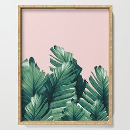 Blush Banana Leaves Dream #3 #tropical #decor #art #society6 Serving Tray