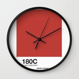 PANTONE COLOR PARODY COLOR- Angry makeup sex Wall Clock