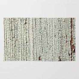 Crackled Wood rustic decor Rug