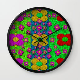 Big flower power to the people Wall Clock