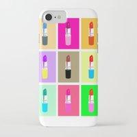 lipstick iPhone & iPod Cases featuring Lipstick by Scout Garbaczewski