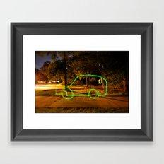 Glowstick Car Framed Art Print