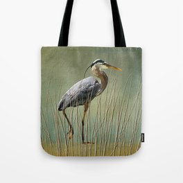 Great Blue At The Beach Tote Bag