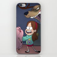 gravity falls iPhone & iPod Skins featuring Gravity Falls  by Steven Ray Brown