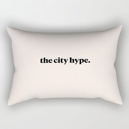 The City Hype Pink Rectangular Pillow