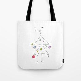 Cute Graphic Christmas Tree Tote Bag