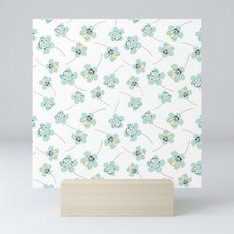 Cherry blossom light blue Mini Art Print