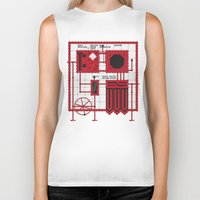 rocky horror Biker Tanks featuring Rocky Horror Control Panel by Shawn Hall Design