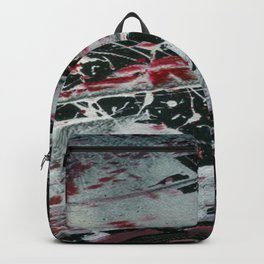 Black Pearl Abstract Ship At Night | Black and White Abstract | Corbin Henry Backpack