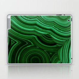 GREEN MALACHITE STONE PATTERN Laptop & iPad Skin