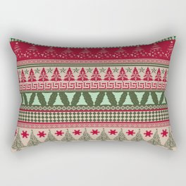 Pine Tree Ugly Sweater Rectangular Pillow