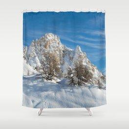 Alpine Mountain, Les Arcs Resort Shower Curtain