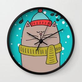 Singing cat 2 Wall Clock