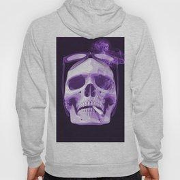 Skull Smoking Cigarette Purple Hoody