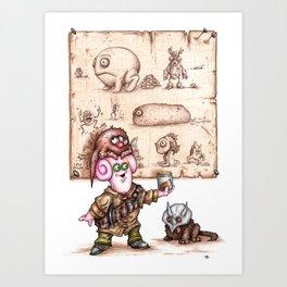 Zlozz and his Poo! Art Print