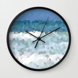 Design 133 Mosaic Ocean Wall Clock